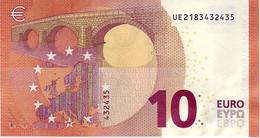 (Billets). 10 Euros 2014 Serie UE , U008G5 Signature Mario Draghi UNC  N° UE 2183432435 - EURO