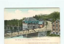 ETATS-UNIS - CHAMPLAIN - East Bridge And First National Building - NY - New York