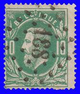 """COB N° 30 - Belle Oblitération à Points - 188 """"GRIVEGNÉE"""" - 1883 Leopold II"""
