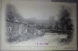 50 Manche CPA Environs De Saint Vaast La Hougue Les Bords De La Sinope à Quinéville 1903 - Autres Communes