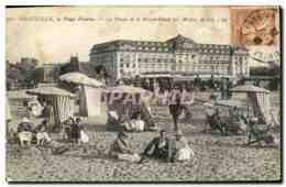 CPA Deauville La Plage Fleurie La Plage Et Le Royal Hotel - Deauville