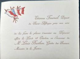 MARINE MENU VIERGE  ILLUSTRE VISITE ESCADRE FRANCAISE 1905 TRES  BEL ETAT STERN GRAVEUR GASTRONOMIE - Menükarten