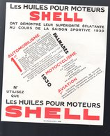 Prospectus HUILES POUR MOTEURS SHELL  C1930  (M2361) - Reclame
