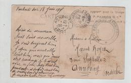 Ecrit De Guerre 1915 Royer Tampon Approvisionnement Pour La Troupe Pardon 315 Régiment Territorial Mormant - Militaria