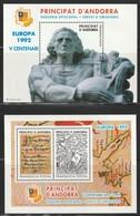 ANDORRA - 1992 - EUROPA - 2 BLOCS - Episcopal Viguerie