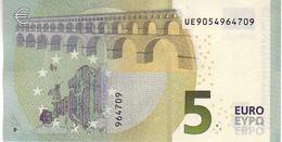 (Billets). 5 Euros 2013 Serie UE, U003J5 Signature 3 Mario Draghi N° UE 9054964709 UNC - EURO