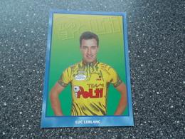 LIMOGES: Coureur Luc Leblanc Polti Team - Cyclisme