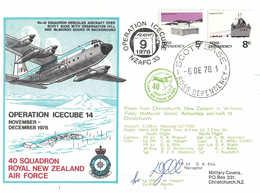 Antarctica Ross Dependency SCOTT BASE - Operation ICECUBE 14 - 06 DE 1978 - Signed - Dépendance De Ross (Nouvelle Zélande)