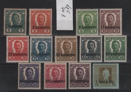 Austria Occupazione Non Emessi 1918 Serie  MLH - Zonder Classificatie