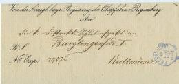 1872 Regensburg Amtsbrief N. Kallmünz - Brieven