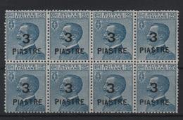 Levante 1922 8 Emissione Locale 3 Pi. Su 25 C. MNH Blocco - Zonder Classificatie