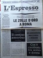 L'Espresso Del 10 Dicembre 1961 Partito Comunista Lussu Gangi Camorra Bowles PCI - Guerre 1914-18