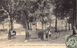 JERSEY St. Hélier - The Parade, Baudains Monument - Publ. LL Levy And Son 64 - Jersey