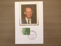 """BELG.1992 2481 FDC Mcard Zijde/soie : """" Baudouin / Boudewijn 100 F """" - FDC"""