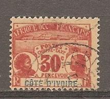 COTE I. - Yt.  TAXE  N°   5   (o)  30c  Cote  11  Euro BE   2 Scans - Elfenbeinküste (1892-1944)