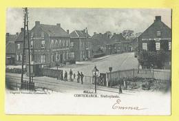 * Kortemark - Cortemarck * (Uitgever Vervaeke, Nr 7) Statieplaats, à La Belle Vue Estaminet, Passage à Niveau, Overweg - Kortemark