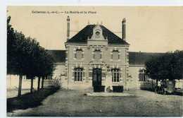 41 - CELLETTES - La Mairie Et La Place - Francia