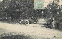 CPA 72 Sarthe AUTOMOBILE Circuit De La Course 1906 Equipe BAYARD Virage Dangereux Route Forestiere De VIBRAYE Touloubre - Vibraye