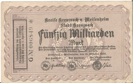 Fünfzig Milliarden Mark 1923. Umlauffähig Im Ganzen Regierungsbezirk Coblenz. 50 Milliards Marks Coblence - [ 3] 1918-1933 : République De Weimar