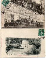 BEZIERS - 2 CPA -  Les Moulins Neufs - Rampe De La Citadelle (Pub) (113 ASO) - Beziers