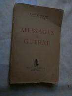 Pierre Ryckmans : Messages De Guerre (1945) Congo - Livres, BD, Revues