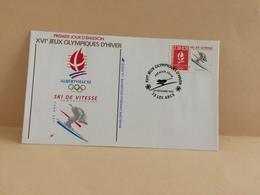 Jeux Olympiques D'hiver (1992 Ski De Vitesse) - 73 Les Arcs - 29.12.1990 - FDC 1er Jour - (Coté 3€ Y&T) - 1990-1999