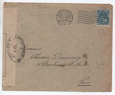 1917 - ENVELOPPE De ROTTERDAM Avec CENSURE Pour PARIS - Poststempel