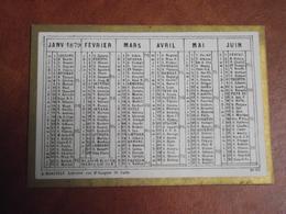 Calendrier, Type Recto Verso, Non Publicitaire, 1879 - Kalender