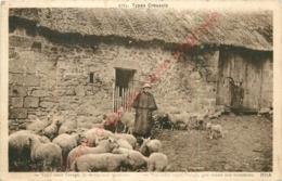 23.  TYPES CREUSOIS .  Voici Venir L'orage Je Rentre Mes Moutons .  CREUSE . - France