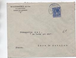1931 - ENVELOPPE COMMERCIALE De LEEUWARDEN Pour LONS LE SAUNIER (JURA) Avec SEUL - Poststempel