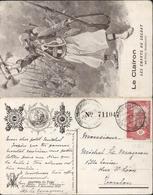 Cote Française Des Somalis YT 87 Rose 10c Djibouti 9 Avril 1916 CP Journée Du Poilu 1915 Le Clairon Chants Soldat - Côte Française Des Somalis (1894-1967)