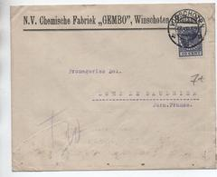 1932 - ENVELOPPE COMMERCIALE De WINSCHOTEN Pour LONS LE SAUNIER (JURA) Avec SEUL - Poststempel
