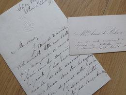 Anna DE BELOCCA (1854-1???) Cantatrice RUSSE Contralto. OPERA Art Lyrique LA HAYE. AUTOGRAPHE + CDV Visiting Card - Autographs