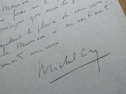 Michel CIRY Peintre - Autographes