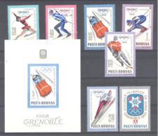 Romania / Rumanien  Michel #  2620 - 26 ** +  Block 64 **  Olympische Spiele 1968 - Ungebraucht