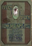 Baden-Baden Renn-Jubiläums-Fest Anlässlich Des 50. Rennjubiläums 1908 Gl 1908 - Baden-Baden