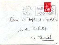 HERALDIQUE = 91 PALAISEAU 1971 = FLAMME Codée à DROITE = SECAP Illustrée D' ARMOIRIES 'BERCEAU De JOSEPH BARA ' - Maschinenstempel (Werbestempel)