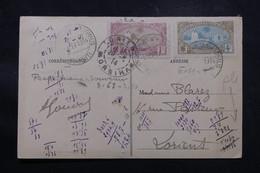 CÔTE DES SOMALIS - Affranchissement Plaisant De Djibouti Sur Carte Postale En 1914 Pour Lorient - L 58910 - Côte Française Des Somalis (1894-1967)