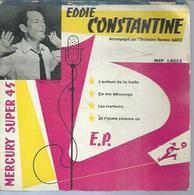 """45 Tours EP - EDDIE CONSTANTINE - MERCURY 14053 - """" L'ENFANT DE LA BALLE """" + 3 ( 1ère Pochette ) - Vinyles"""