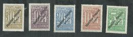 Fiscal Alsace Lorraine Désannexion Zone De Thann-Massevaux No 158/162 - Revenue Stamps