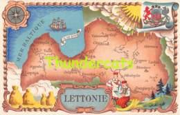 CPA LETTONIE LATVIA MAP PLAN RIGA - Latvia
