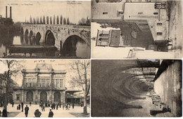 BEZIERS - 4 CPA - Cloitre St Nazaire - Le Théatre - Le Vieux Pont - L' Eglise St Nazaire   (130 ASO) - Beziers