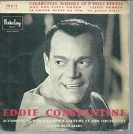 """45 Tours EP - EDDIE CONSTANTINE - BARCLAY 70072 - """" CIGARETTES, WHISKY ET P'TITES PEPEES """" + 3  ( 2ème Pochette ) - Vinyles"""
