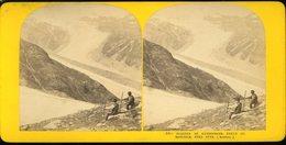 Photographie Stéréoscopique Glacier De Kesselwand Route Du Hochjoch Près Fend Oetzthal Mangfallgebirge  9 Par 17 Cm - Photos
