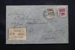URUGUAY - Enveloppe En Recommandé De Montevideo Pour La France, Affranchissement Poste Aérienne  - L 58920 - Uruguay