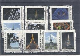 France Lot De Vignettes Sur La Tour Eiffel - Paris - 2010-... Viñetas De Franqueo Illustradas