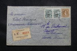 URUGUAY - Enveloppe En Recommandé De Montevideo Pour La France En 1947, Affranchissement Plaisant - L 58921 - Uruguay