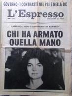 L'Espresso Del 1 Dicembre 1963 Assassinio Kennedy Moro Nenni Bangkok Texas Mare - Guerre 1914-18