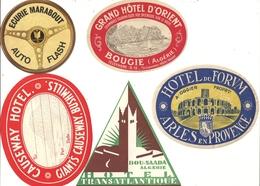 Publicités Collection De 11 Etiquettes D'Hôtel Voyage - Etiquettes D'hotels