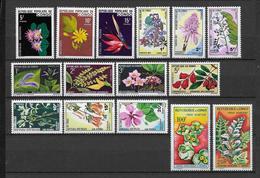 CONGO - YVERT N° 268/271+428/430+ AERIENS 8/9+ TAXE 46/51 ** MNH - FLEURS - Kongo - Brazzaville